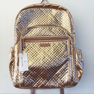 VERA BRADLEY Iconic Campus Backpack in Rose Gold